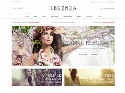 Legenda Responsive Multipurpose Wordpress Theme
