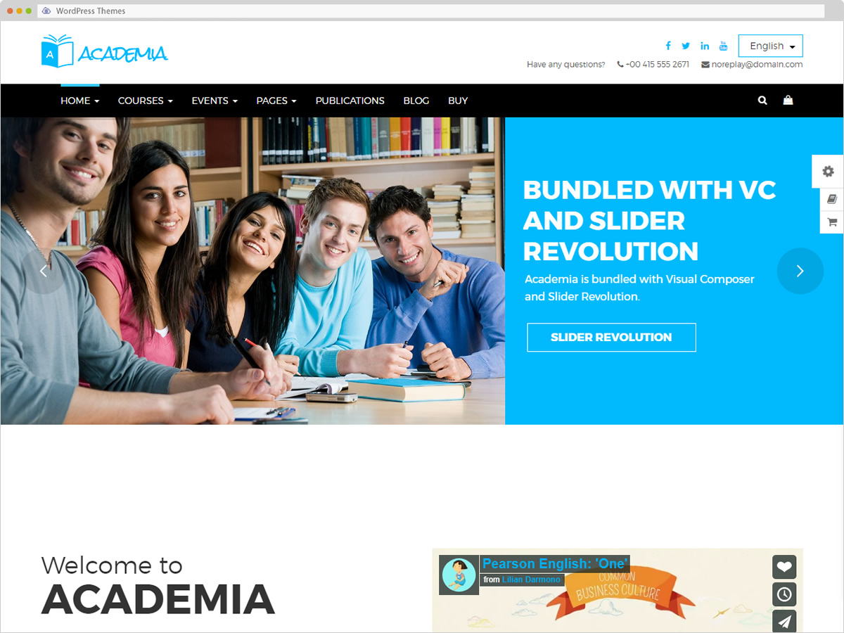 Academia WordPress Theme
