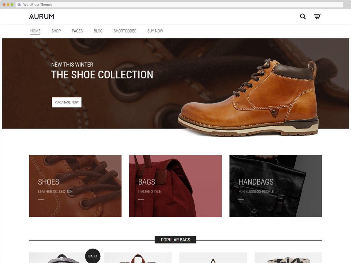 Aurum WordPress Theme