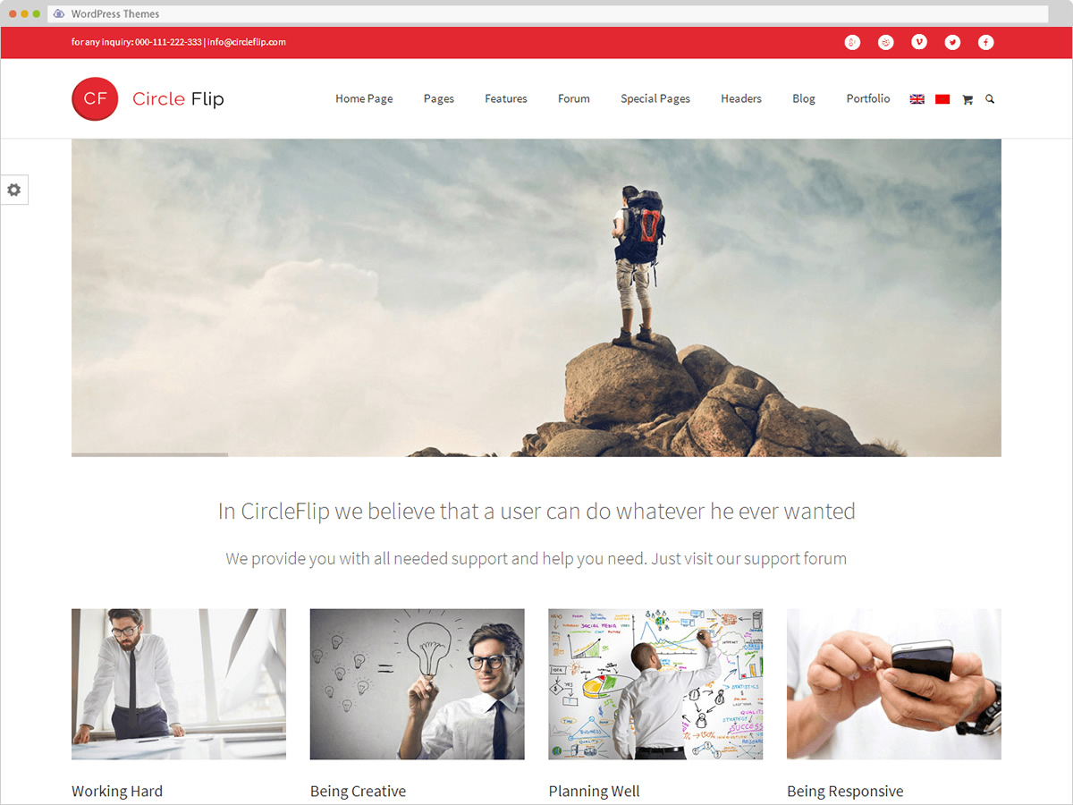 Statfort WordPress Theme