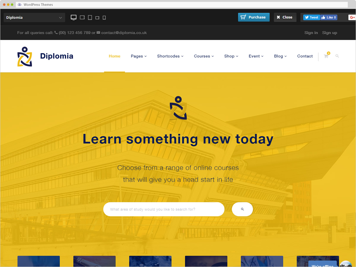 Diplomia WordPress Theme