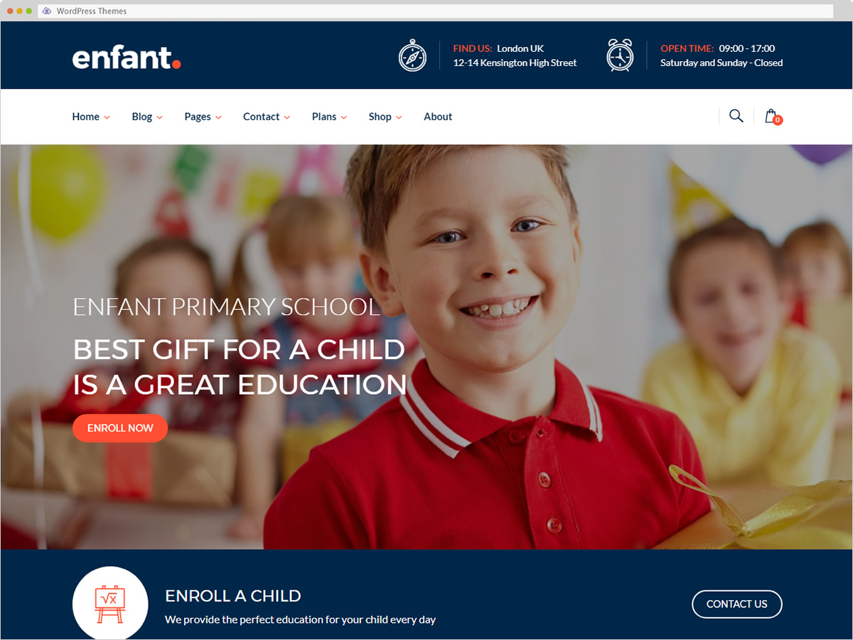Enfant WordPress Theme