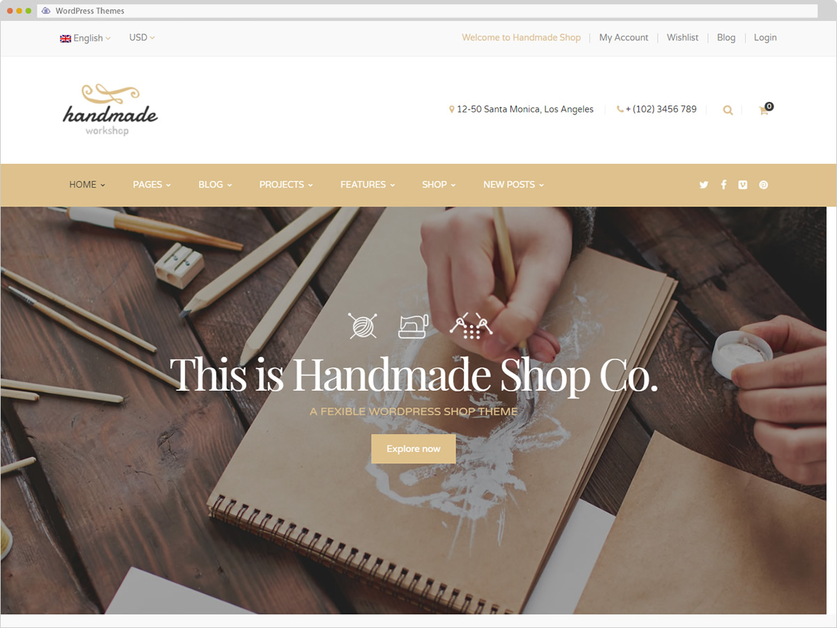 Hadmade WordPress Theme