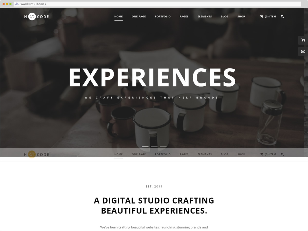 HCode WordPress Theme