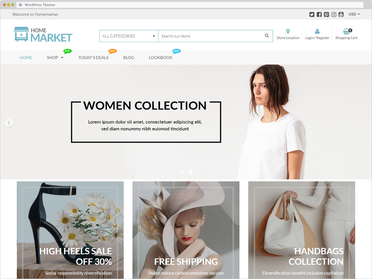 HomeMarket WordPress Theme