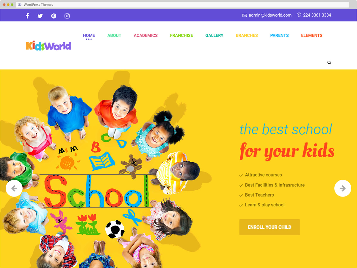 Kids World WordPress Theme