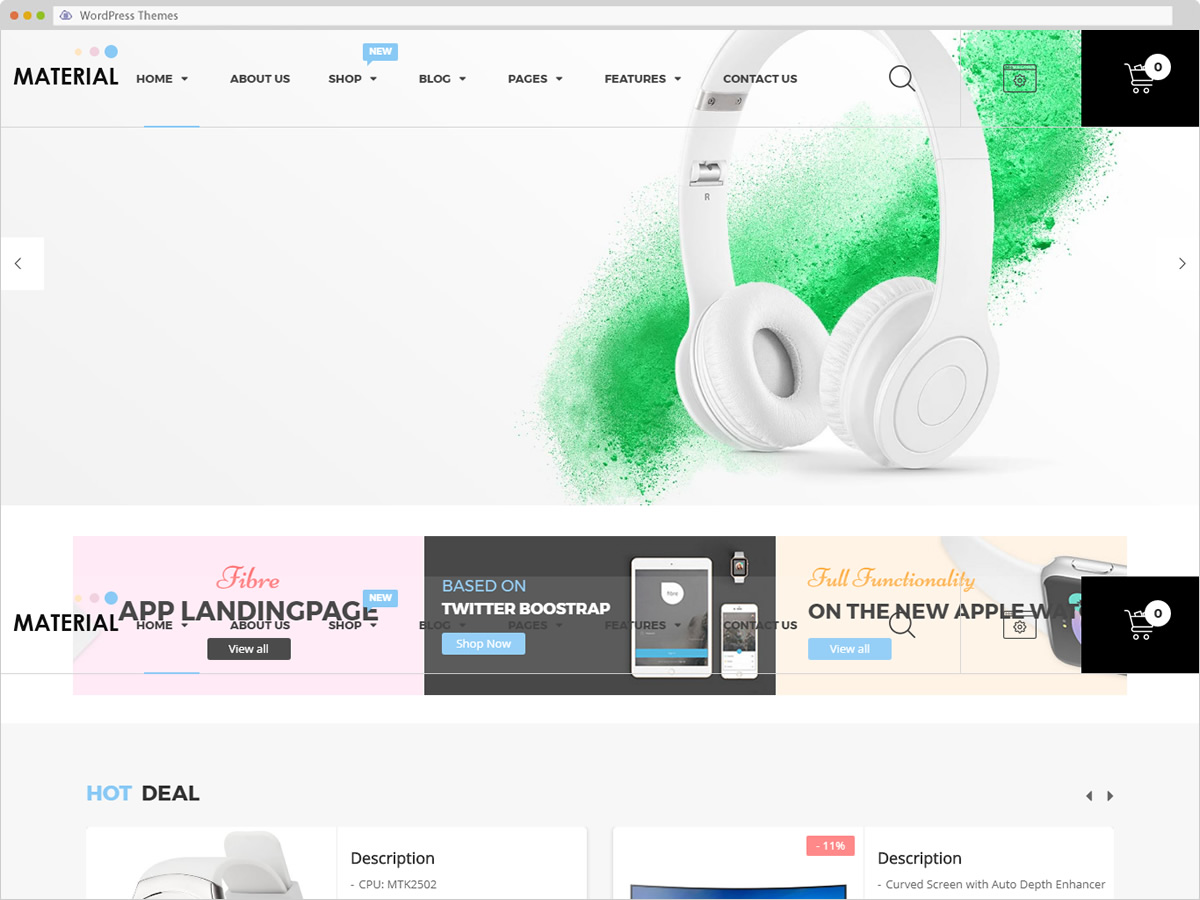 Material WordPress Theme
