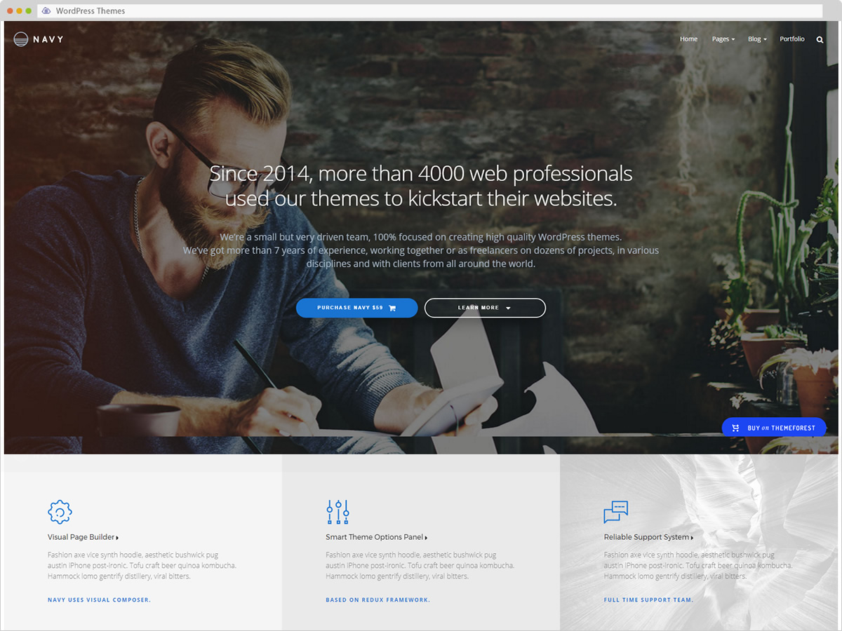 Navy WordPress Theme