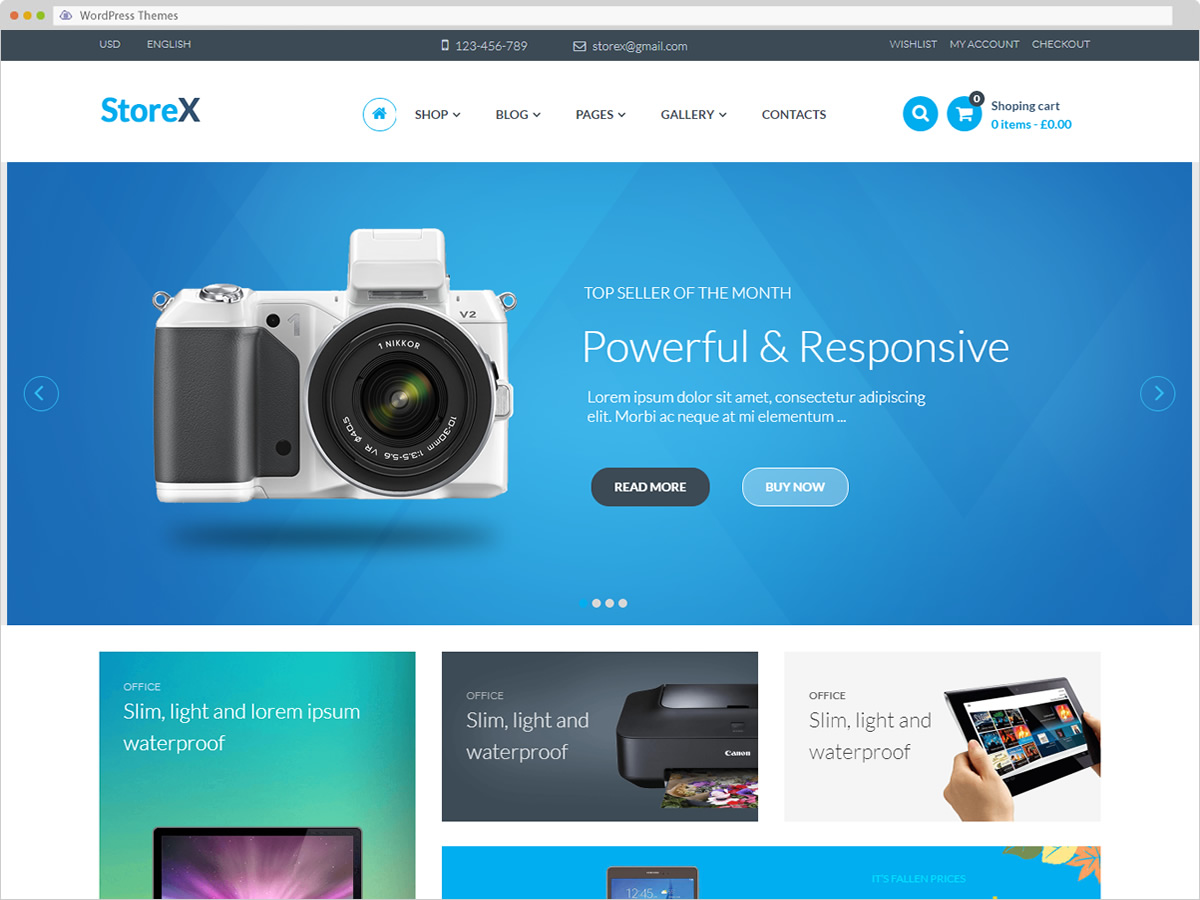 StoreX WordPress Theme
