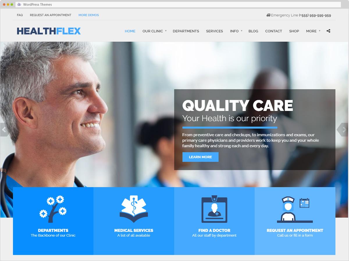 Healthflex WordPress Theme
