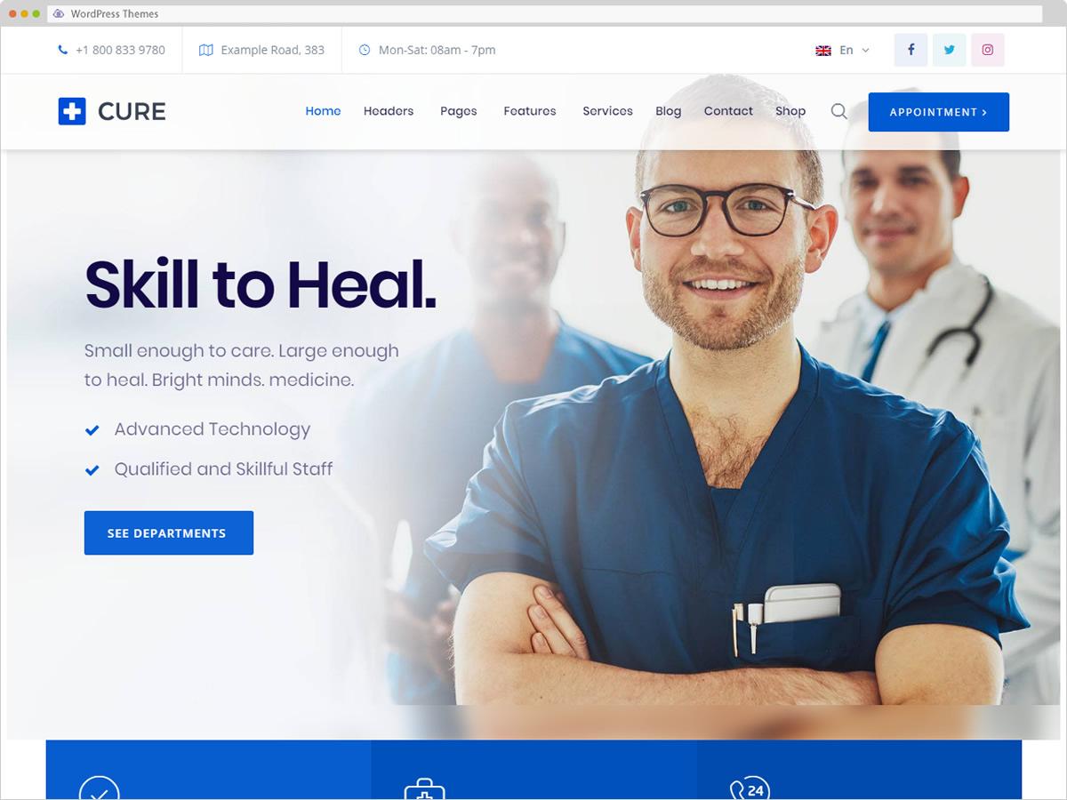 Medical Cure WordPress Theme